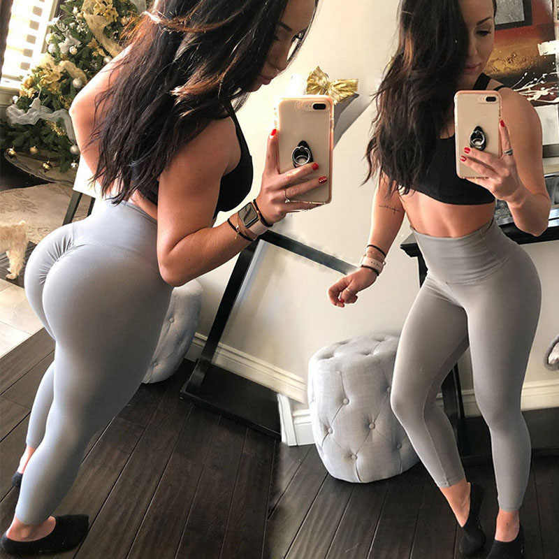 4ab64581576b NINGMI Sexy Butt Lifter Slimming Pants Fitness Tights Women Ruched Hip Push  Up Leggings High Waist
