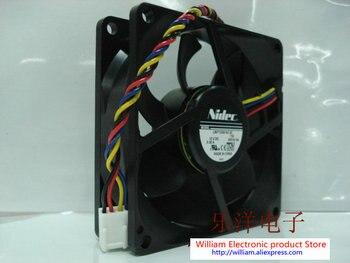 Новый Шасси-вентилятор Nidec L80T12NS1A7-57 8025 12 V 0.38A охлаждающего вентилятора компьютера