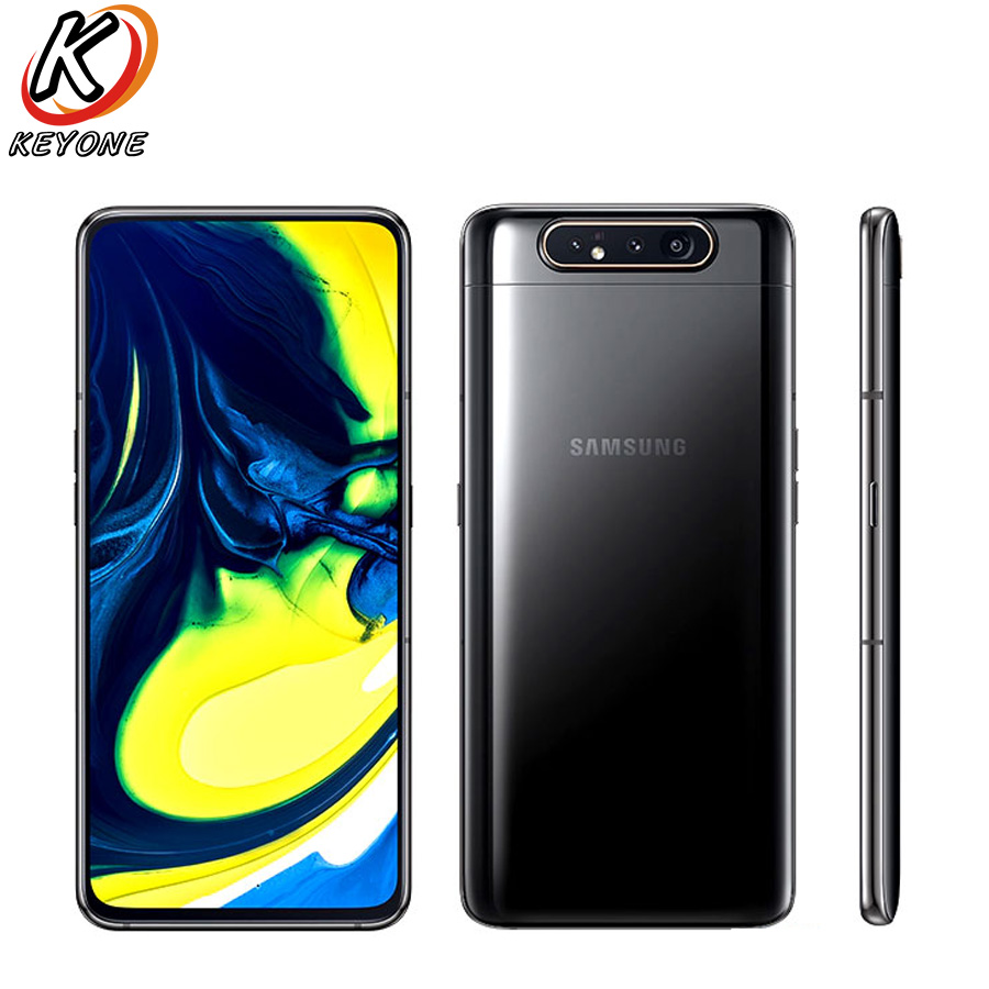 "Brand New Samsung Galaxy A80 A805F/DS LTE Mobile Phone 6.7"" 8GB RAM 128GB ROM Snapdragon 730 Android 3700mAh NFC Dual SIM Phone(China)"