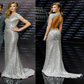 Huntington Transformers Premiere Sequins Long Backless Celebrity Dress Women Gown Open Back Free Shipping