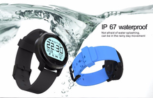 Smart watch f68 ip67 impermeable monitor de ritmo cardíaco reloj smartwatch podómetro colck relojes envío gratis