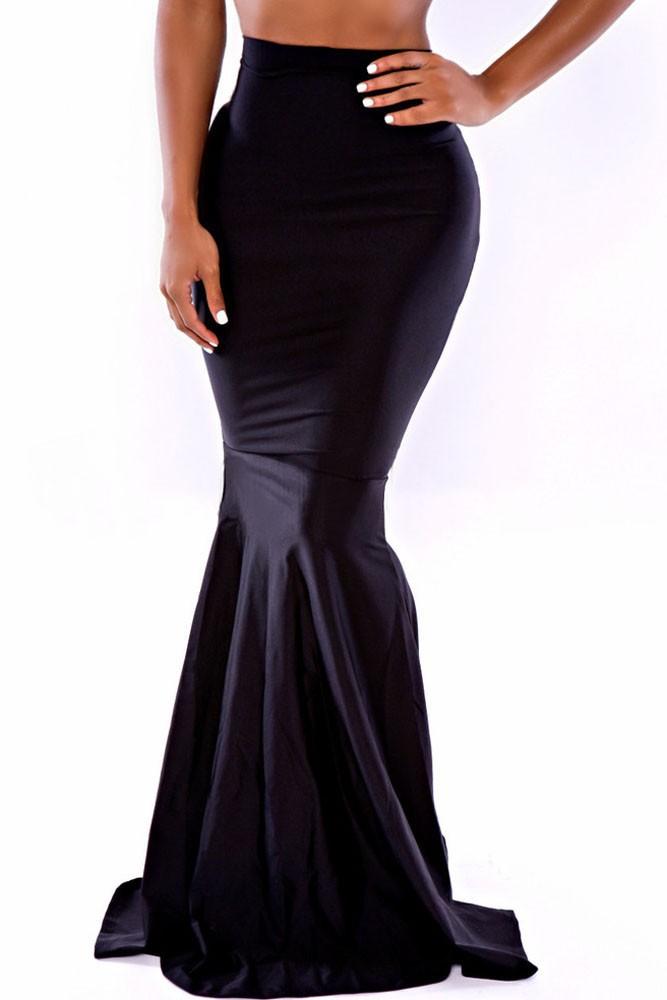 High-Waist-Bodycon-Mermaid-Floor-length-Skirt-LC71068-1