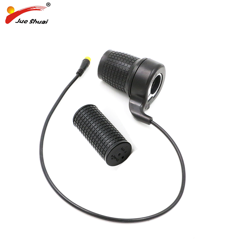 Electric Bicycle Speed Throttle 36V 48V Twist Throttle Half Twist E Bike Speed Throttles Electric Bicycle Hub Motor Accessories