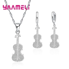 Giemi Hot Sale Violin Shape Necklace With Earrings Fashion 9
