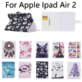 For Apple iPad Air 2 Tablet Cover Case New Fashion PU Leather Case for IPAD6 with card slot wallet sleep/wake up case+gifts