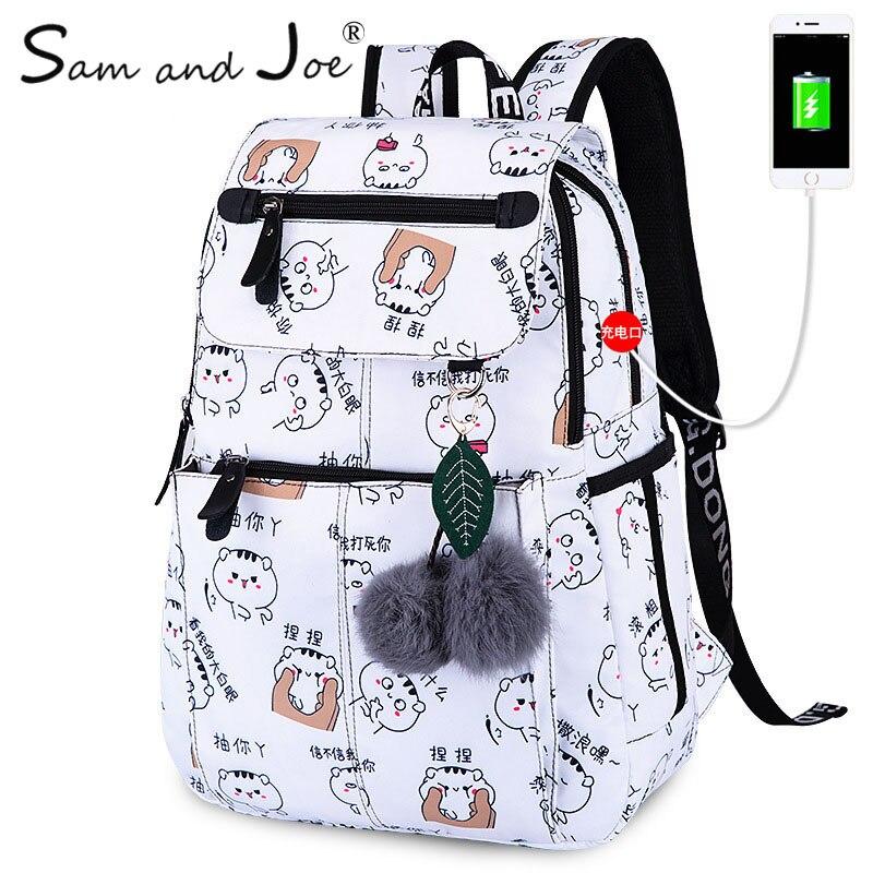 6896bf49bfed 2019 New Women Emoji Shoulder Bag Leisure Best Travel Backpack Female  Printing Waterproof School Knapsack mochila Bagpack Pack-in Backpacks from  Luggage ...
