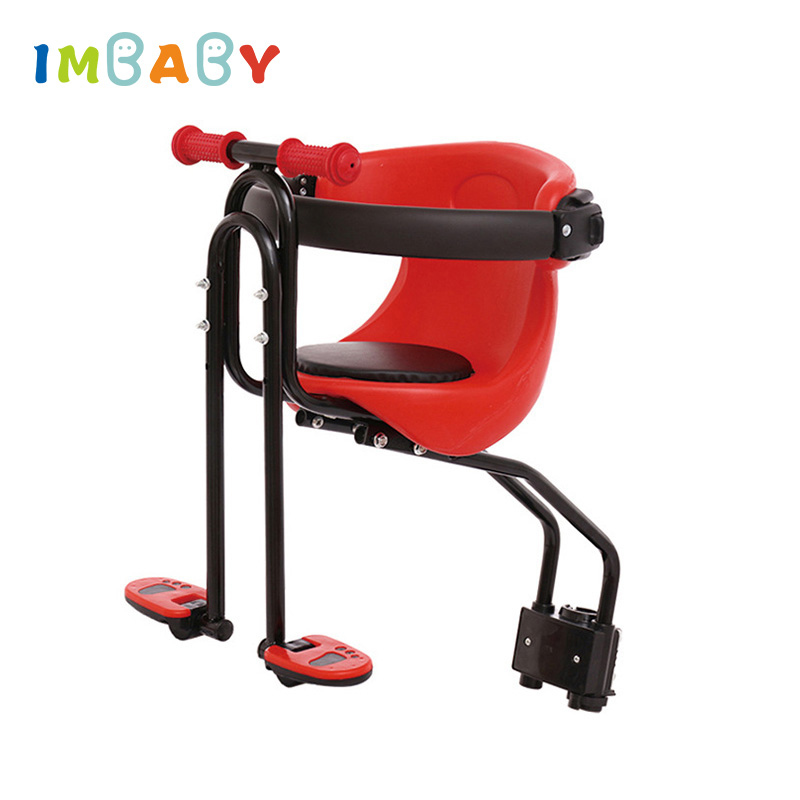 IMBABY Child Bicycle Safe Baby Seat Child Safety Carrier Front Seat Saddle Cushion with Back Rest