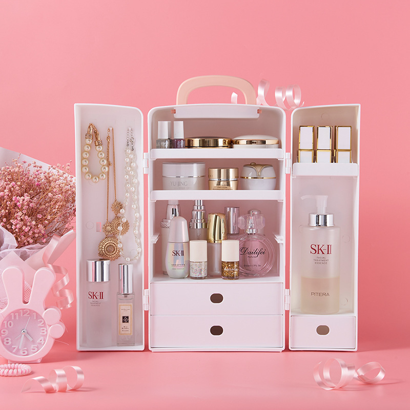 Dust Proof Drawer Integrated Skin Care Products Lipstick Makeup Cute Storage Box Drawer Jewelry Drawer Finishing Rack Storage Boxes Bins Aliexpress