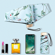 Mini Ultra-light Ultraviolet-proof Folding Umbrella Dual-purpose Sunscreen Pocket Manual Female Long Handle