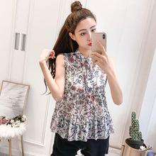 2019 New Yfashion Women Summer Elegant Charming Sleeveless Chiffon Casual Shirt Top Quality