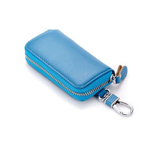 High Quality Key Wallet Vintage Coin purse Fashion key cover Casual Chain Car Bag Genuine Leather Cow