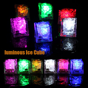Luminous Ice Cube Creative baby funny DIY Building Blocks Glowing in the Darks Flash Toys for Children Birthday Party Decoration