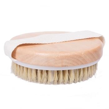 Body massage bath brush wooden bristle bath brush  Scrub Skin Massage Shower Body Round Head Bath Brushes Bathroom Accessories 3
