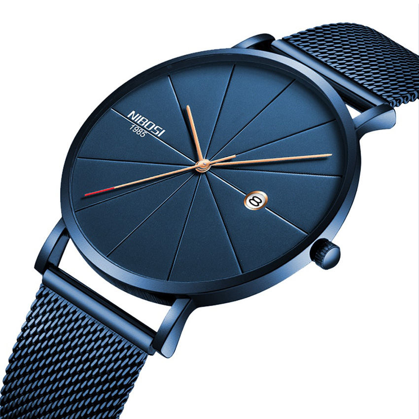 NIBOSI Unisex Style Watch Men and Women Watch Luxury Famous Top Brand Dress Fashion Watch Quartz Wristwatches With Milanese Band цена