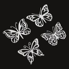Шт. 4 шт. Бабочка металлический трафарет для DIY Скрапбукинг тиснение бумаги карты решений Декор ремесла стемпели met dies troquel flore