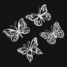 4pcs butterfly Metal Cutting Dies for DIY Scrapbooking Embossing Paper Cards making Decor Crafts stempels met dies troquel flore