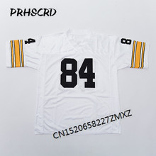Retro star  84 Antonio Brown Embroidered Throwback Football Jersey(China) 53c18bb39