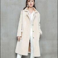 Натуральная шерсть пальто с мехом Зимние женские дубленки 2018 Дубленки Из Овчины парка женский Настоящее пальто с мехом длинные двусторонни