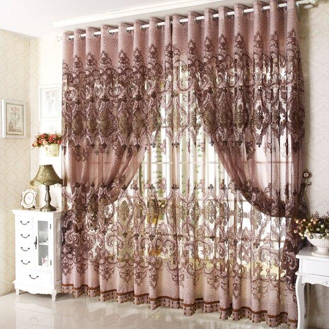 Moda recorte tallado cortina cortinas francesas producto en casa balc n cortinas de detecci n - Cortinas de casa ...