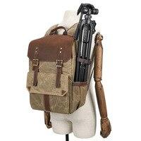Outdoor Waterproof Photography DSLR Camera Backpack Wax Dye Canvas Video Digital Photo Bag Case NK Shopping