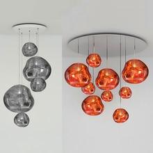 Современный светодиодный подвесной светильник из стекла Lava Tom DIXON, серебристый, золотой, красный, подвесной светильник для гостиной