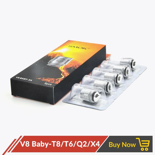 Orijinal smok tfv8 bebek yedek bobin başkanı e sigara çekirdek TFV8 bebek M2 T8 T6 X4 Q2 TFV8 bebek RBA bobinler
