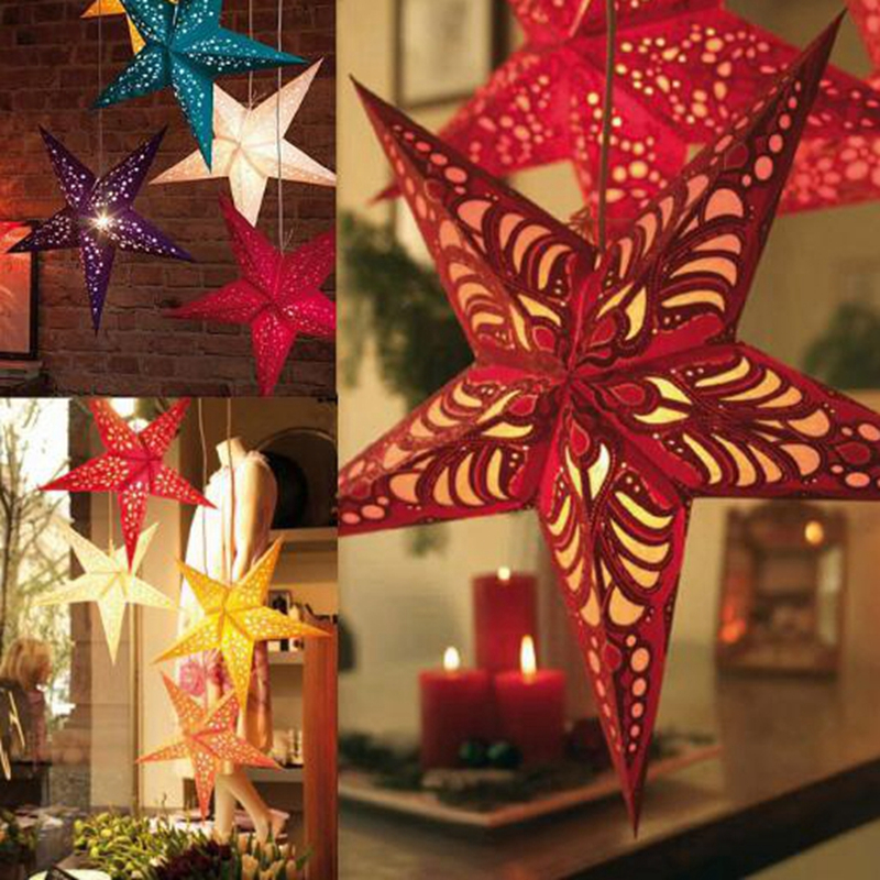 5pcs 304045cm lampshade paper lamp shade pentacle pentagram chimney christmas decorations christmas - Wholesale Christmas Decorations