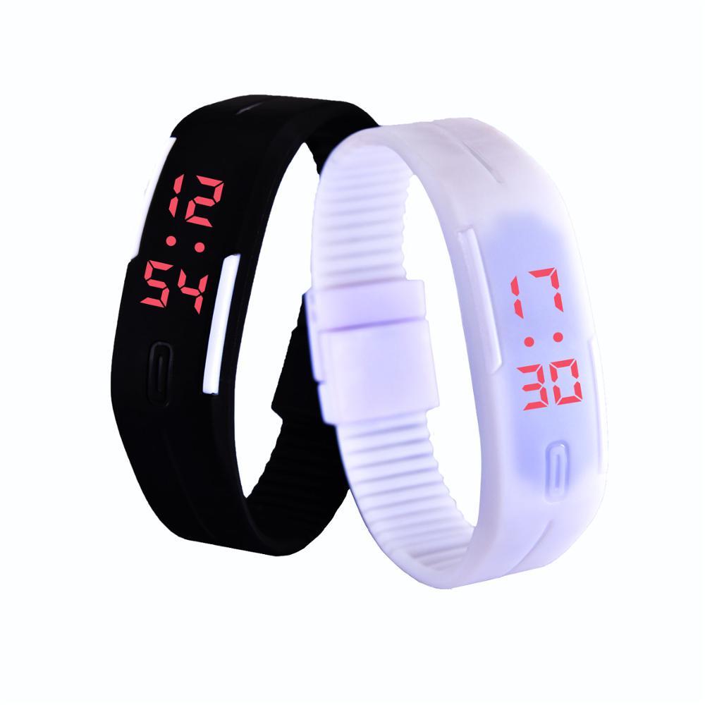 New LED font b watch b font Men Women font b Watches b font Colorful Rubber