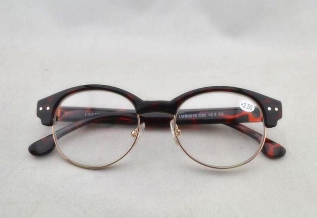 b0516495356 New Women Leopard Cat Eye Reading Glasses Retro Half Rim Round Eyeglasses  Reader +1.0 +