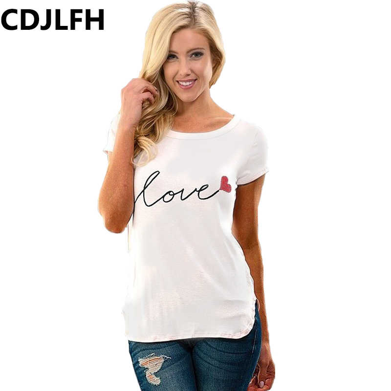 1d02c7d3315 ... CDJLFH Fashion Women Shirt Print Blouses Casual Blouse Shirts Short  Sleeves Tops Tee blusa Clothing Plus ...
