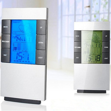 Digital Thermometer Hygrometer Weather Station Household LCD Thermometers Temperature Humidity Meters Indoor Outdoor Clock