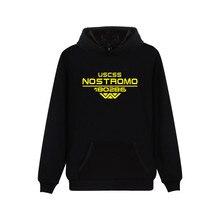 Film Alien Starship Nostromo Hoodies Casual Fashion Hooded Sweatshirts WEYLAND CORP USCSS 180286 Starship Nostromo Print Hoodie