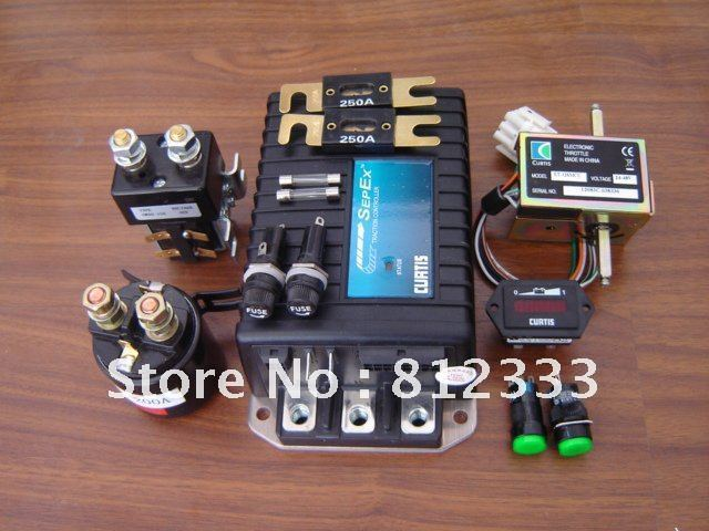 Curtis 1243 4220 24v 200a controller assembly combo 13 in for Curtis dc motor controller 1243