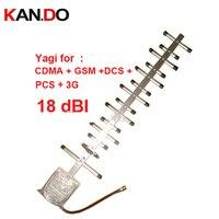 Quad bande yagi antenne 12dbi 800 Mhz/900 Mhz + 1800 mhz 1900 mhz 2100 Mhz antenne extérieure, CDMA + GSM + DCS + PCS + 3G booster répéteur