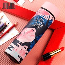 JOUDOO 450ml Cute Flamingo Printed Thermos Stainless Steel Top Quality Drinking Vacuum Flasks Tea Coffee Water Bottle Gifts 35