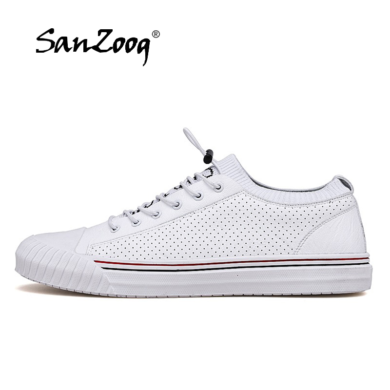 Brand Casual Leather Sneakers Fashion Breathable Anti-Slip Classic Skateboarding Shoes Men Designer Sneakers Genuine Leather Brand Casual Leather Sneakers Fashion Breathable Anti-Slip Classic Skateboarding Shoes Men Designer Sneakers Genuine Leather