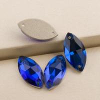 a1cfe66c98 Capri Blue 3223 Navette 6x12 9x18mm Sew on Rhinestones Decorations For  Clothes Flat Back Rhinestone Glass Stones Sewing Crystal