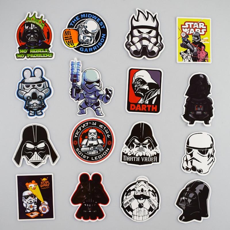 50Pcs / Lot Star Wars Stickers Graffiti Decal For Kid DIY Skateboard Laptop Car Luggage Bicycle Waterproof Mix Sticker