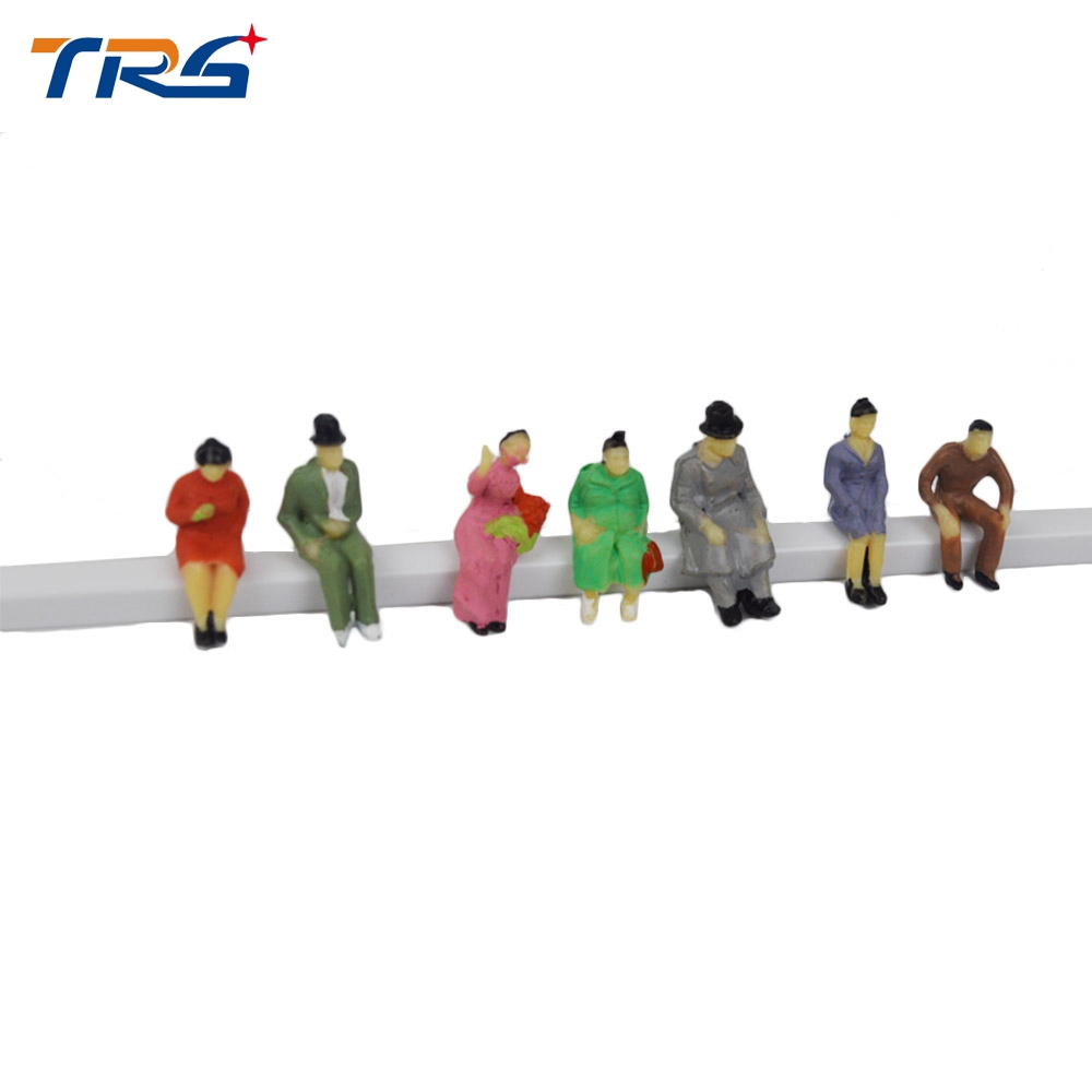 200pcs HO scale 1/87 architectural model making painted color figures passegers for train layout railway