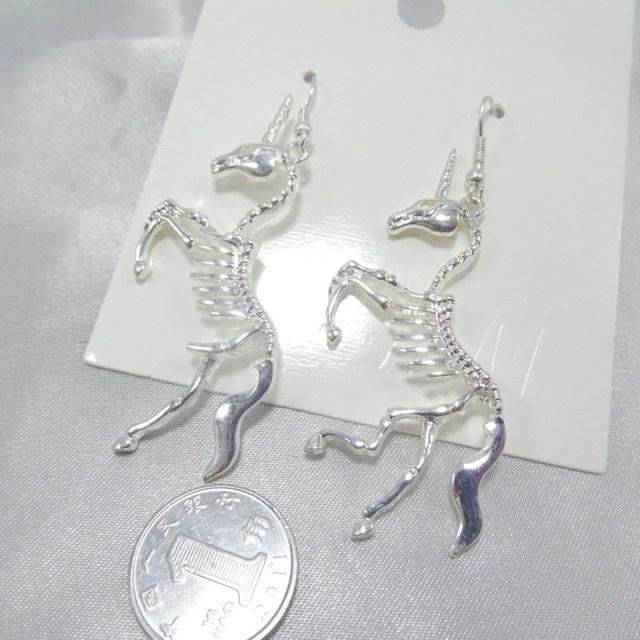 Unicorn Skeleton Drop Earrings