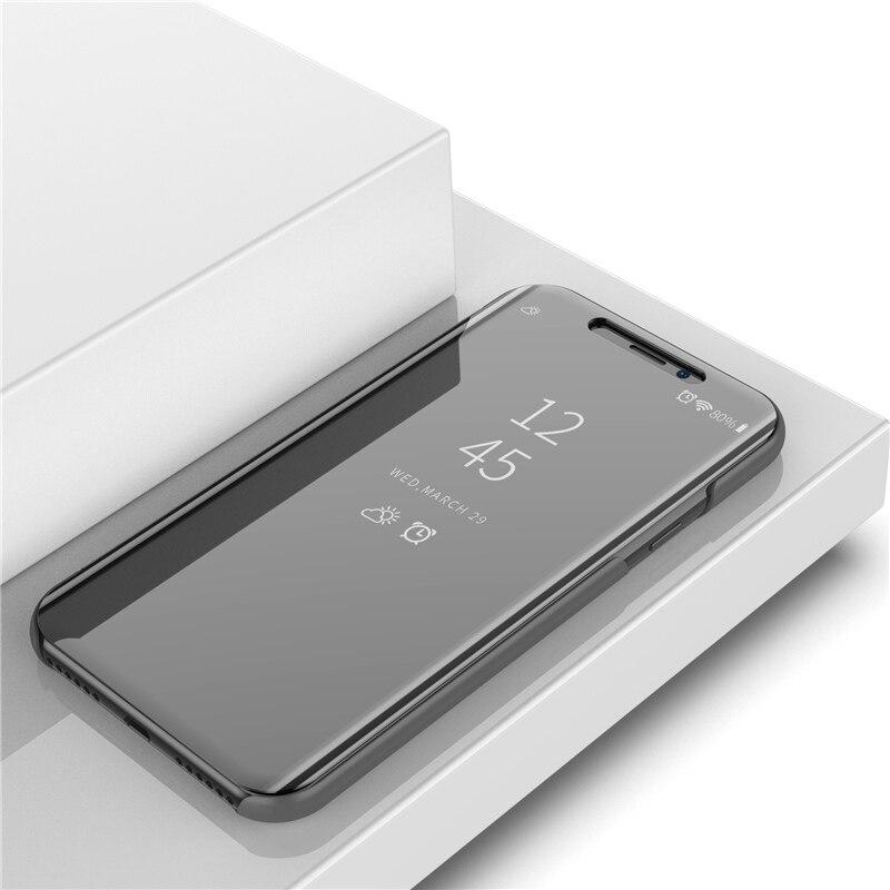 RedmiS2 Claro Espelho Retrovisor Tampa Do Caso Da Aleta Para Xiaomi Redmi S2 Luxo PU Couro Smart Cover Para Xiaomi Redmi S2 caso