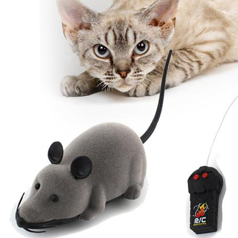Remote Control Mouse Toy Cat Toy Wireless Remote Control False Mouse Novelty RC Cat Dog Funny Playing Toys For Cats Kitten