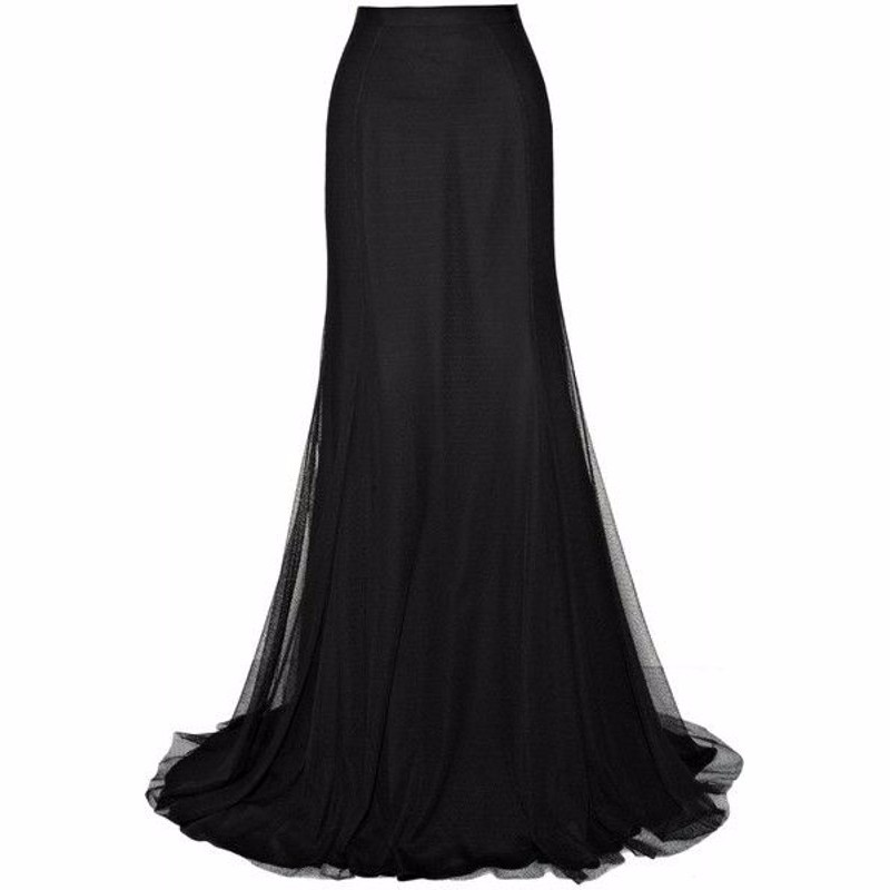 Online Buy Wholesale black full length skirt from China black full ...