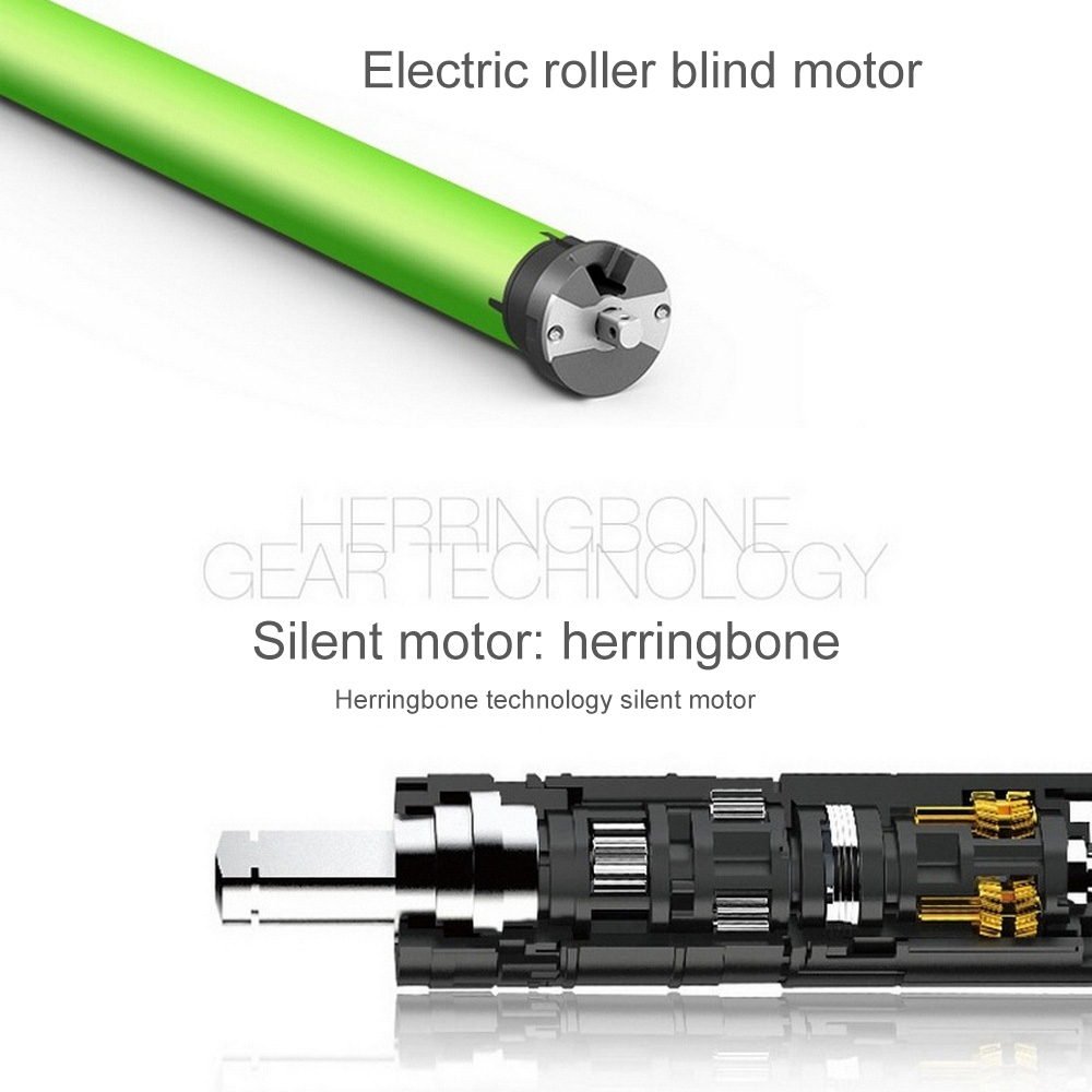 TM-35S-10/17 220V Automatic Electric Roller Shutter Motor Curtain Motorized Rolling Blind Tubular Motor Shade Anti-theft Window