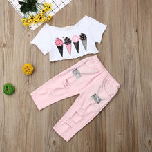 Kids Baby Girl Summer Clothes Crop Tops Long Pants Outfits S