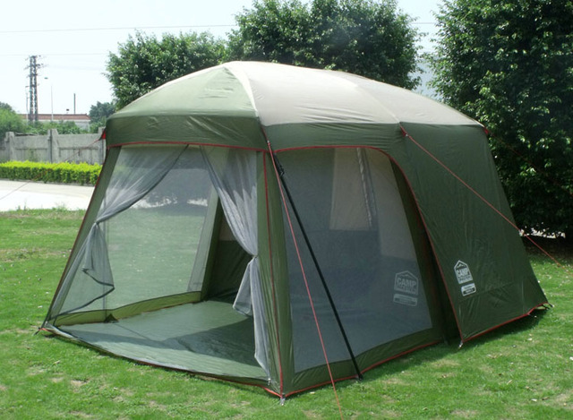 China outdoor tent large size c&ing tent family 5 person 4 seasons waterproof tent 2 room & China outdoor tent large size camping tent family 5 person 4 ...