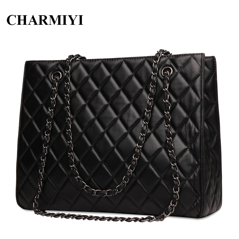 CHARMIYI Luxury Brand Genuine Leather Large Women Handbags Lady Casual Travel Bags Womens Designer Shoulder Bag Bolsa Feminina кухонная мойка teka classic 1b lux