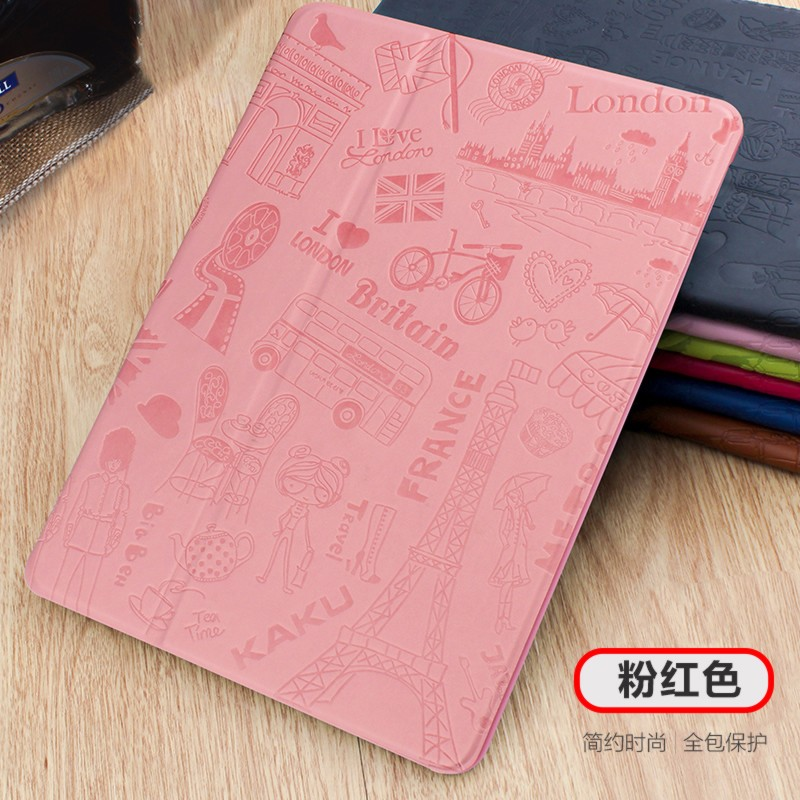 Fashion Original KAKUSIGA For Apple iPad mini Case Embossing Pu Leather Cute Cover for New iPad mini 4 Lovely Paris style+film джемпер michael michael kors ms66mvb0wp 487