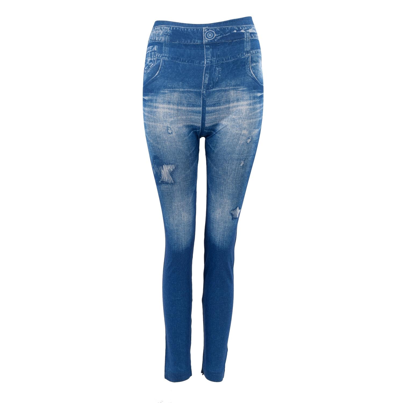 SAF Wanita Denim Jeans Legging Kurus Peregangan Celana Celana 9 WARNA