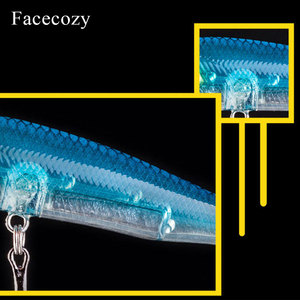 Image 5 - Facecozy Fishing Lures Luminous Minnow Artificial Bait 1Pc 6.5/8/9CM Multi color Transparent Swimbait Suitable for Trolling